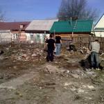 Расчистка земельного участка под мечеть