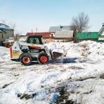 Расчистка строительного участка от снега