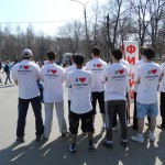 Легкоатлетическая эстафета в Железнодорожном районе г. Ульяновска