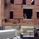 Закончили кладку внутренней стены и приступили к внешней стене северной части мечети | Строительство мечети на ул. Р. Люксембург, 33