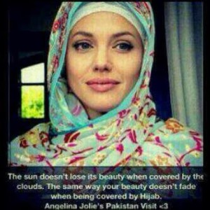 Анджелина Джоли поддержала Международный день хиджаба в Пакистане