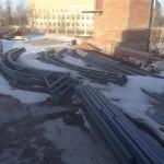 На строительную площадку завезли металлоконструкции для сборки куполов основного здания и минаретов