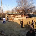 Начались работы по возведению оставшихся пролетов минаретов и сборке куполов из металлоконструкций