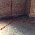 Начаты электромонтажные работы внутри мечети