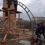 Приступили к сборке основного купола мечети