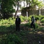 Субботник на старом кладбище