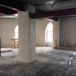 Практически закончены работы по заштукатуриванию внутренних стен 2-го этажа мечети