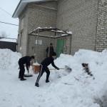 Уборка снега у Второй соборной мечети