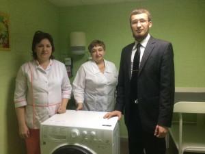 Стиральная машина для областной детской больницы