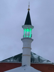 Завершено возведение минарета мечети по ул. Дзержинского 20