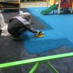 Цветное резиновое покрытие!